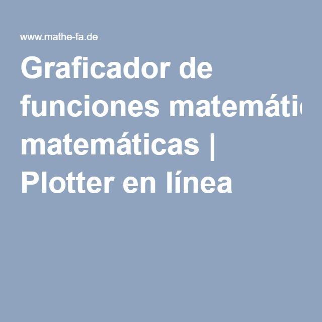 Graficador de funciones matemáticas | Plotter en línea