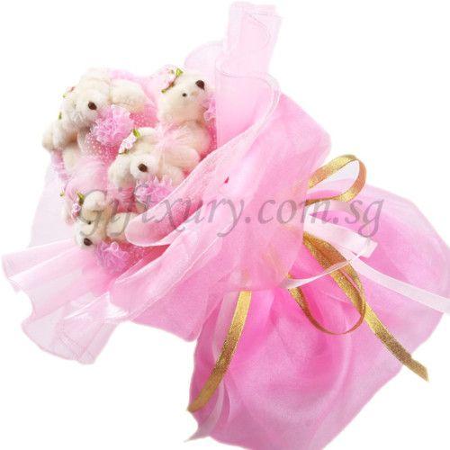 Eternal Love Teddy Bear Bouquet http://www.giftxury.com.sg/product/eternal-love-teddy-bear-bouquet/