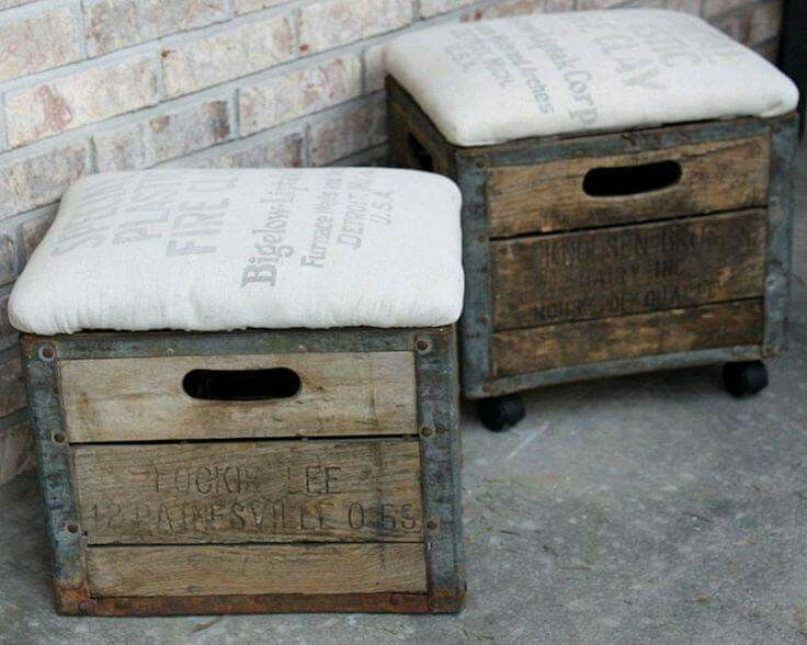 Simple ottomans. .......country style