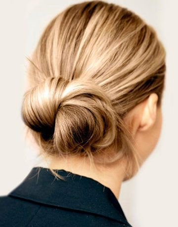 Look 1: Twisted Waves  AM: A relaxed bun in the morning transforms easily into beautiful waves by evening, no curling iron required.    Read more: Day to Night Hairstyles - Harper's BAZAAR