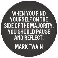 free running shoes Mark Twain Quote