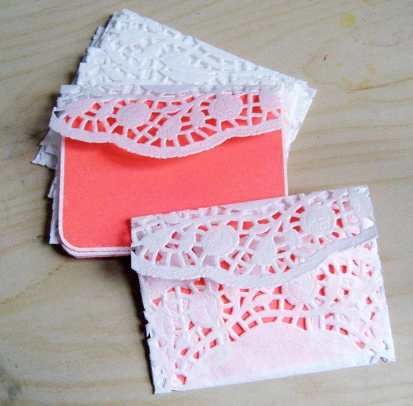 Doily Envelopes #envelopes #paper #craft