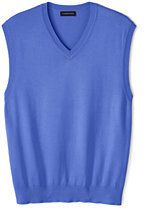 Lands' End Men's Performance Sweater Vest-China Blue