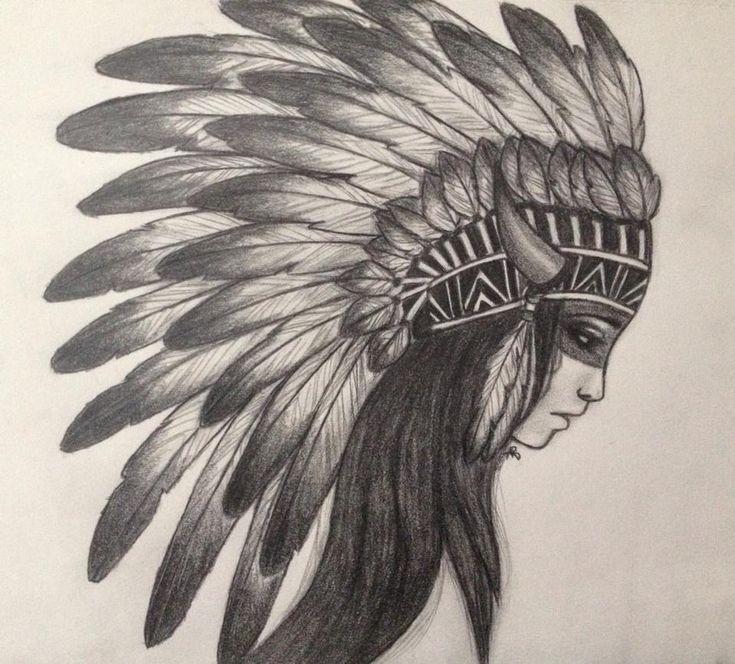 Great White Buffalo Native American Headdress Tattoo: Lady Indian Chief Logo - Google Search