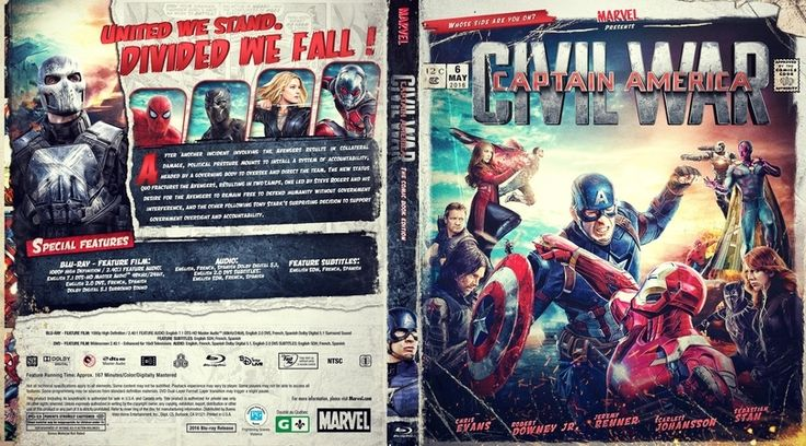 Captain America Civil War Blu-ray Case