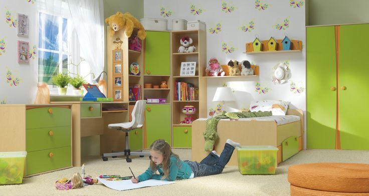 Moderní dětský nábytek - kombinace zelená, hnědá http://www.vybersito.cz/oddeleni/103/detsky-pokoj/