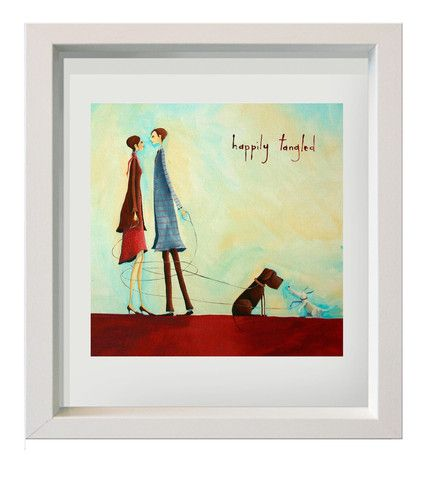 "print  on watercolour paper framed under glass  ""happily tangled"""