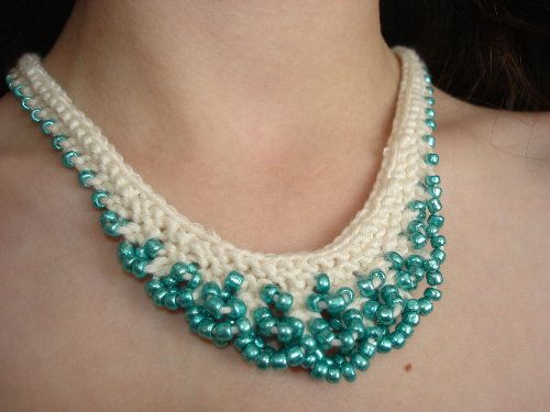138 Best Knit Necklace Images On Pinterest Crochet Jewellery