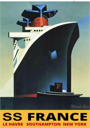 Vintage French Nice Tourism Poster A4//A3//A2//A1 Print