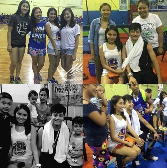 """This is a photo montage of Daniel Padilla, Kathryn Bernardo, their friends, and the cast and crew of Pangako Sa 'Yo during the Pangako Sa 'Yo Basketball Tournament after taping somewhere in Manila last February 18, 2016. Indeed, KathNiel is my favourite Kapamilya love team, they're amazing Star Magic talents, and """"Pangako Sa 'Yo"""" is my favourite Kapamilya telenovela. #KathrynBernardo #TeenQueen #DanielPadilla #KathNiel #KathNielBernaDilla #PangakoSaYo #PangakoSaYoBasketballTournament"""