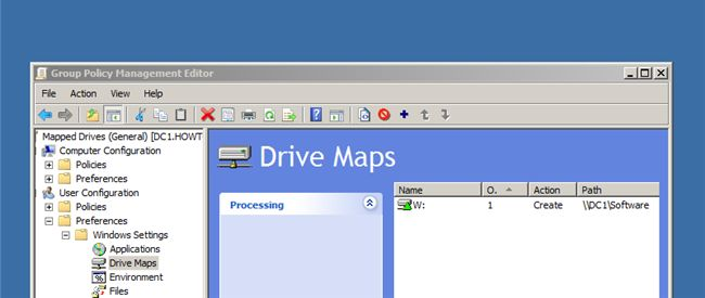 Map Network Drives via Group Policy