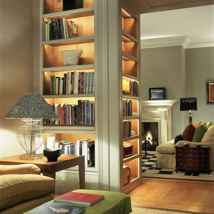 subtle lighting techniques add drama to spaces #interiordesign John_Cullen_Reception_Room_Lighting-03
