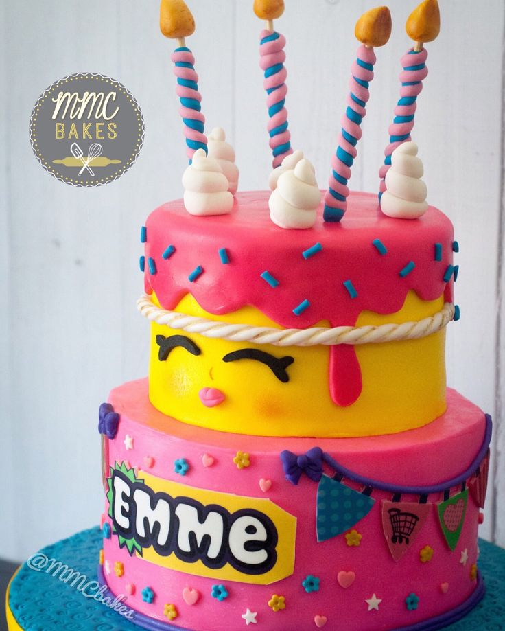 Last weekend I had the pleasure of making this Shopkins Wishes cake for Emme's 7th birthday. This has to be one of my favorite cakes I've made so far because I love how it's colo…