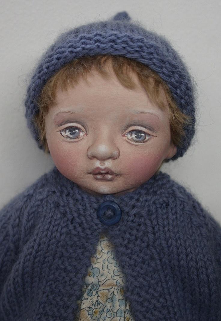 "Cloth Art Doll ""Biba"" by Susie McMahon."