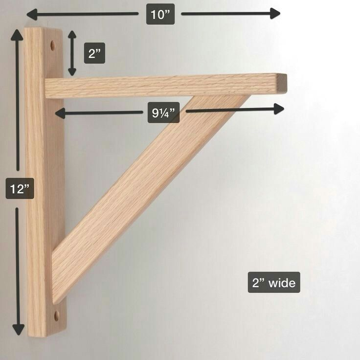 straight 10 wood shelf bracket more