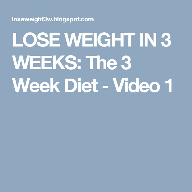 3 Week Diet System Results Physical Therapy