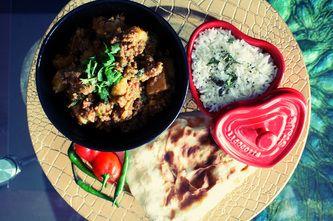 Smoked Minced Meat & Potato Curry (Dum Aaloo Qeema)
