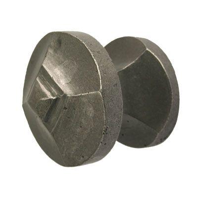 Brionne Tarascon center, entry door knob from the Fonderie range shown here in clear satin steel finish