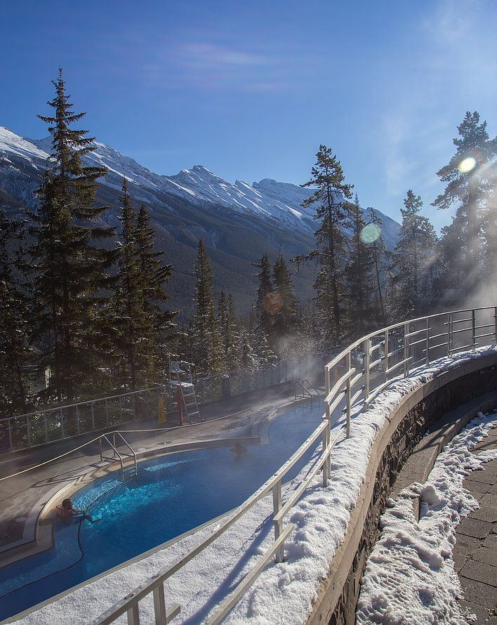 Welcome to The Canadian Rockies Hot Springs. From here you will find information about our hours of operation at Banff Upper Hot Springs.