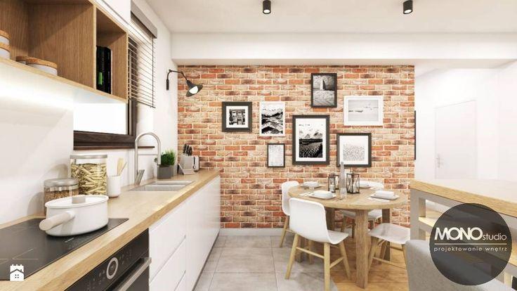 Kuchnia z elementem cegły - zdjęcie od MONOstudio - Kuchnia - Styl Nowoczesny - MONOstudio