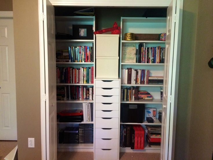 Turn your guest room closet into office storage space. #Truorder