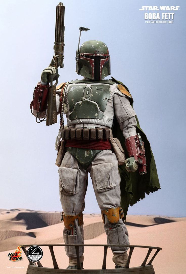 hot toys star wars episode vi return of the jedi boba fett 1 4 scale collectible figure. Black Bedroom Furniture Sets. Home Design Ideas