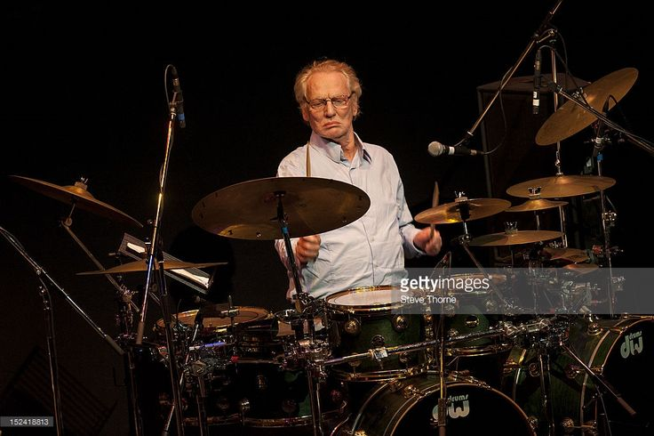 Ginger Baker of Ginger Baker's Jazz Confusion performs on stage at Warwick Arts Centre on September 20, 2012 in Coventry, United Kingdom.