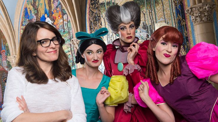 Award winning actress, comedian, writer and producer, Tina Fey stopped by to chat with Disney's original mean girls today. Cinderella's wicked stepmother and stepsisters Drizella and Anastasia posed for a photo with Tina inside Cinderella Castle