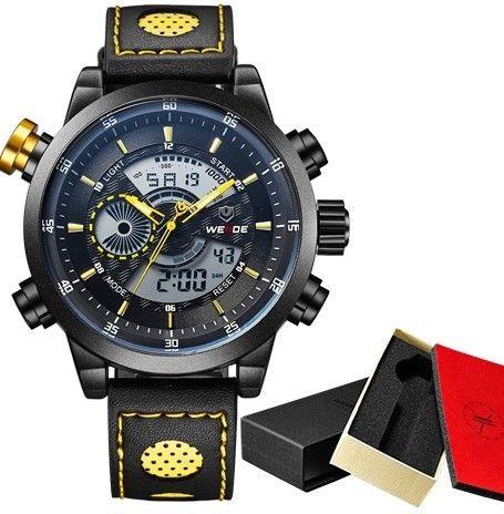 Značkové vodotěsné hodinky WEIDE vysoké kvality ŽLUTÉ – dárky pro muže Na tento produkt se vztahuje nejen zajímavá sleva, ale také poštovné zdarma! Využij této výhodné nabídky a ušetři na poštovném, stejně jako to udělalo …