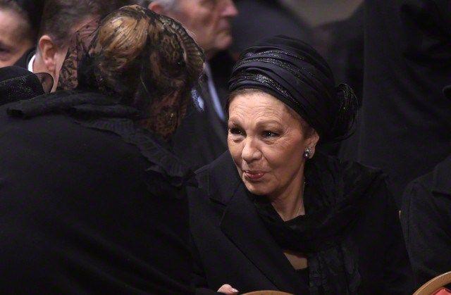royalhats:  Queen Fabiola's Funeral, December 12, 2014-Empress Farah
