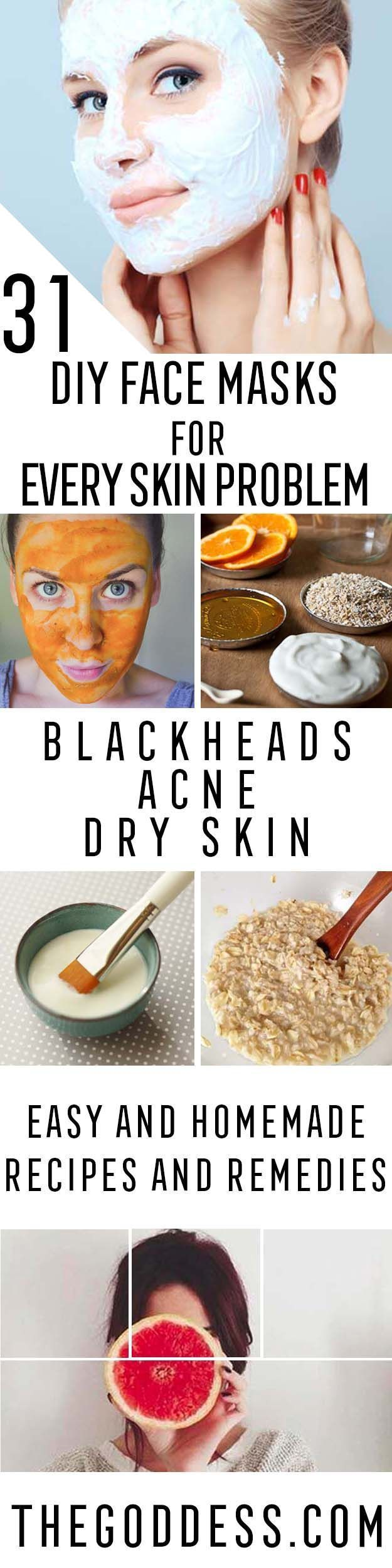 DIY Skin Care Recipes : DIY Face Masks for Every Skin Problem  Easy Homemade Face Masks For Blackheads