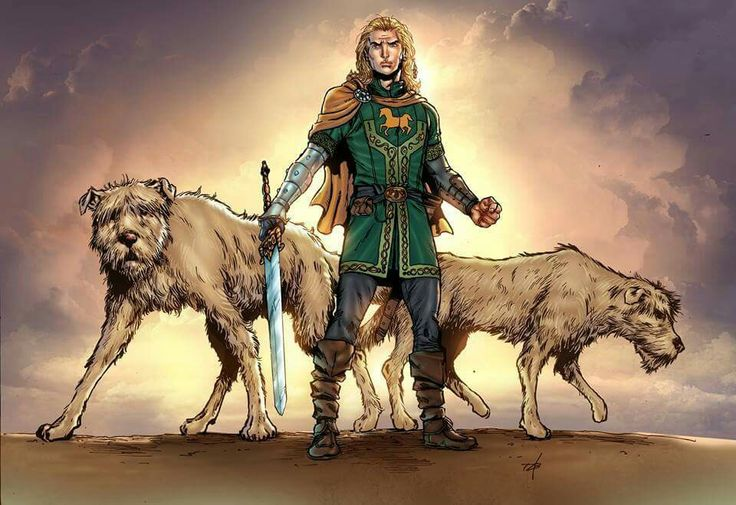 Fionn Mac Cumhaill is a Hero of Good character whose hair turned prematurely white (Fionn means fair, bright) and who inspired Fionn's Window, a medicine wheel. He was raised by Druids and is a rolemodel Shaman and Shapeshifter.