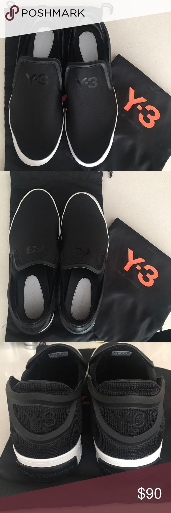 """Yogui Yamamoto's adidas label Y-3 Laver Slip-On Men's size 9.5"""". Condition: like new. Great for summer, stretch mesh with stretch textile quarter gusset and mesh heel. Inlay: leather; RPU frame Yohji Yamamoto Shoes Loafers & Slip-Ons"""