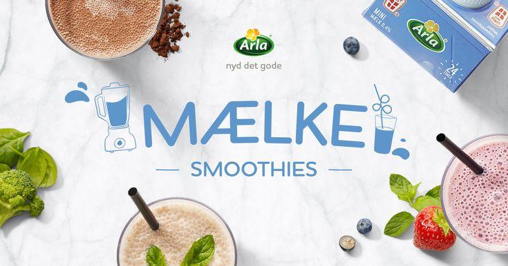 Prøv vores nye mælkesmoothie-opskrifter- og alle de andre lækre mælkedrikke.