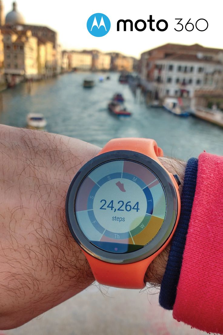 Take the Moto 360 Sport watch along on your next adventure and track your steps throughout the course of the entire trip. With a 24-hour battery life and an athletic style to match your travel look, it's the ideal travel accessory. Choose the sportwatch that's ready to explore, wherever the road takes you!