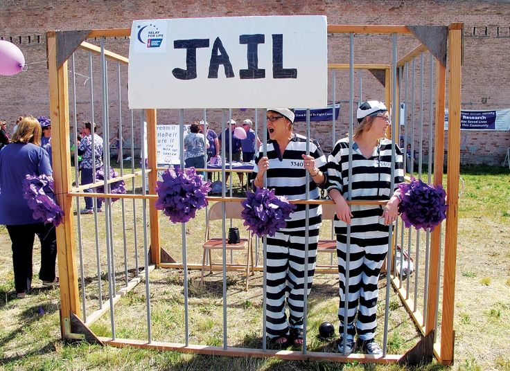 """Love this idea!!! """"Put someone in """"jail"""" then raise the money to bail them out. All $$ to Relay!"""" But with a shelter kennel!!!"""