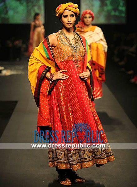 Latest Party Wear Anarkali Suits By Ritu Kumar Lakme