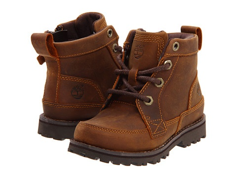 "Timberland Kids Earthkeepers® Asphalt Trail 6"" Boot with Side Zip (Infant/Toddler) Light Brown - Zappos.com Free Shipping BOTH Ways"