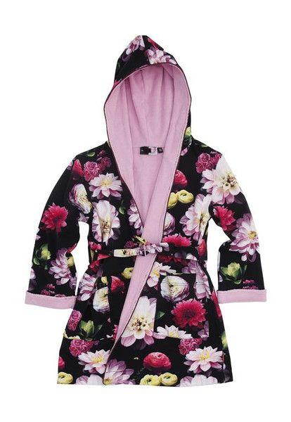 Molo Way Black Flowering Luxury Bathrobe