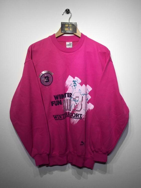 Puma sweatshirt size Medium (but Fits Oversized) £34 Website➡️ www.retroreflex.uk #puma #vintage #oldschool #retro #truevintage