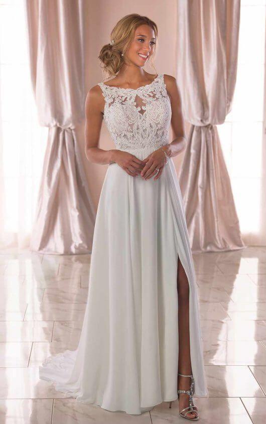 Casual Wedding Dress with Slit – Stella York Wedding Dresses