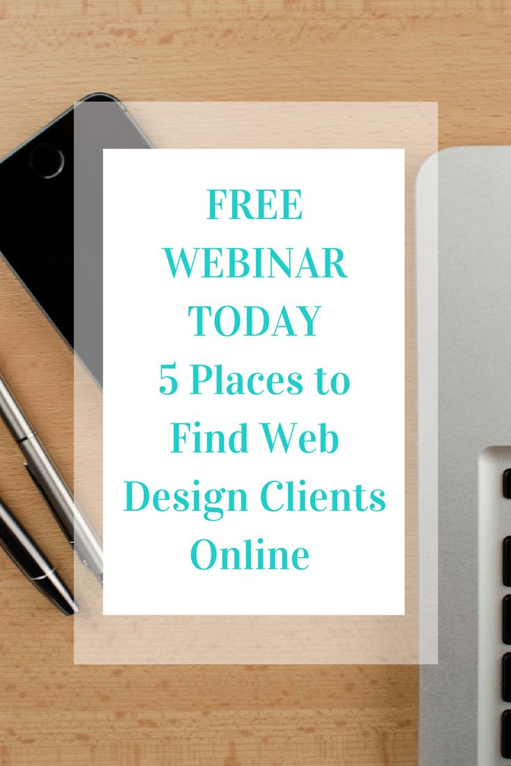 TODAY FREE WEBINAR!!!! Join us for some fun with freelancing!!! #webinar #freewebinar #freelancing #webdesign #growyourbusiness #freelancer #freelancewebdesign #freelancedesign Know someone who would love this? Share it! Thanks :)  Web Design School April 20 at 6:28pm ·  TODAY!!!!!  5 Places to Find Web Design Clients Online Free Webinar  Are you struggling to find clients for your freelance web design business? Are you just starting out in web design and can't get clients? No worries. I…