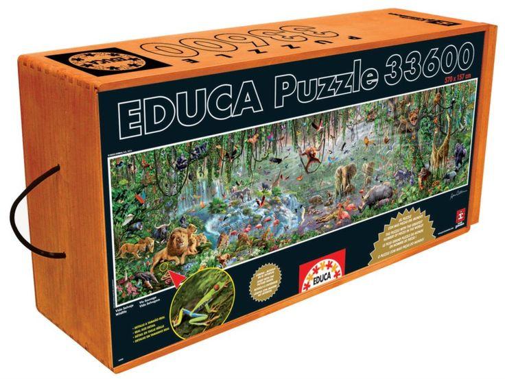 2. největší puzzle světa EDUCA 33600 dílků - Divočina (Wildlife)