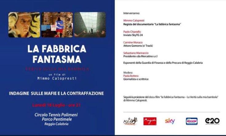 """mercatinousato.com Reggio Calabria: """"La Fabbrica Fantasma"""" mafie e contraffazione in un docufilm di Mimmo Calopresti"""