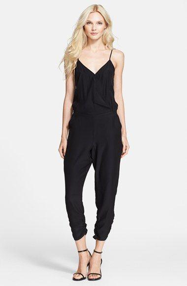 Parker 'Liv' Surplice Crop Silk Jumpsuit available at #Nordstrom