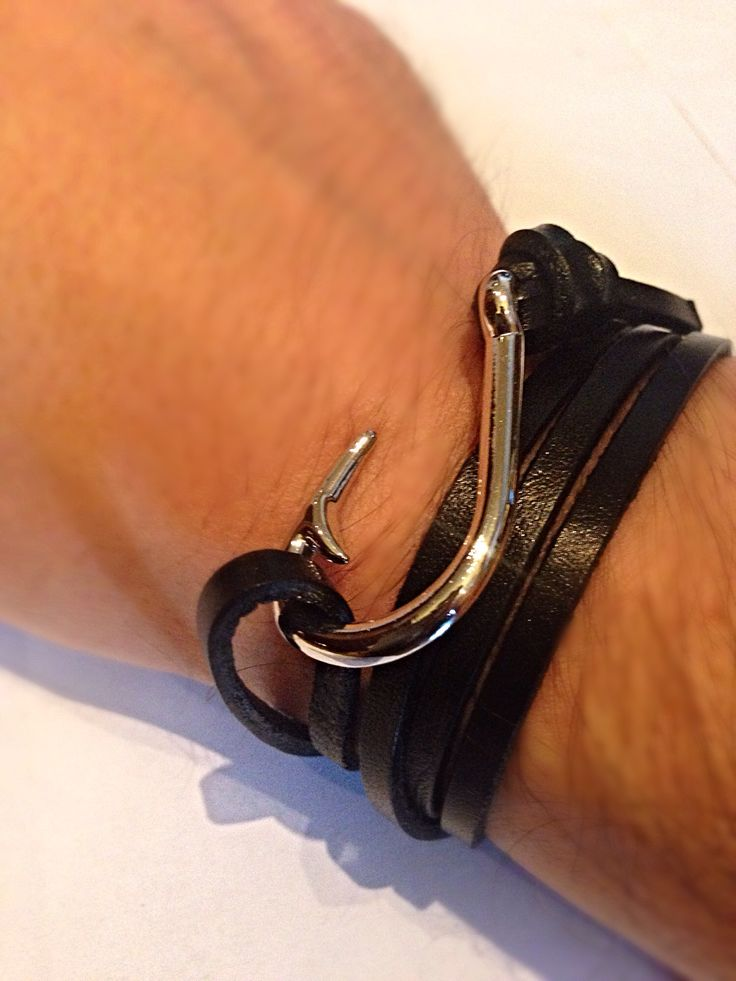 E&M Fishing Club bracelet. New Classy Luxury Italian handmade genuine leather Silver plated fishing hook bracelet. In a crowded bar, the only thing people will notice will be your wrist. Grab your bracelet now to uncover the classy attractive man in you- www.ellimoretti.com