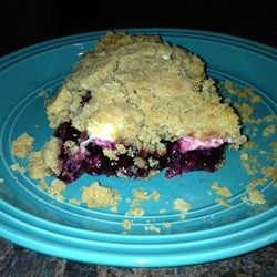 Saskatoon Berry Cream Cheese Crumb Cake - Allrecipes.com