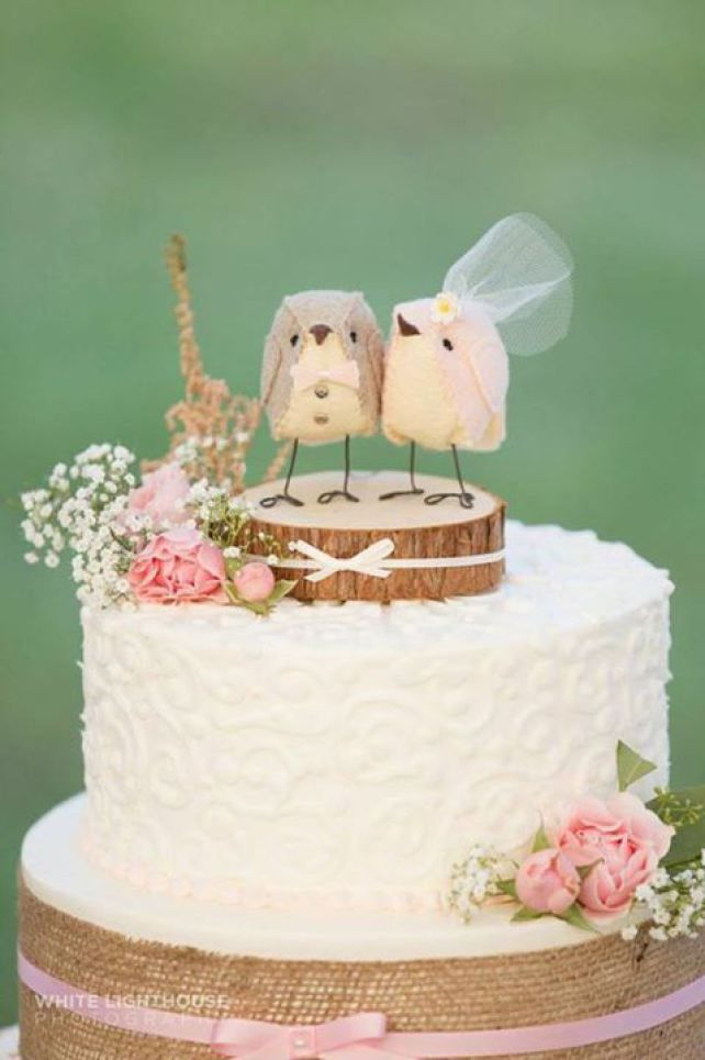 Bird Cake Topper Etsy Shop Cinnamonbirds | Emmaline Bride