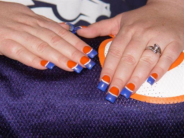 denver broncos nail art images | Denver Bronco nails - Nail Art Gallery