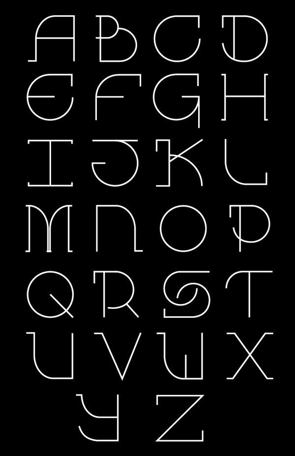 Custom Type by Danny Tijerina, via Behance